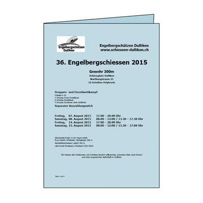 Schiessplan / Falzflyer
