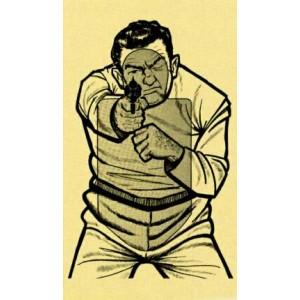 Kampfscheibe Feind ungestanzt