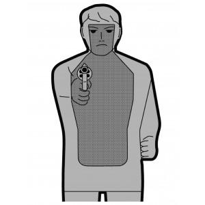 Ausbildungsscheibe für Waffentragscheinprüfung - Papier