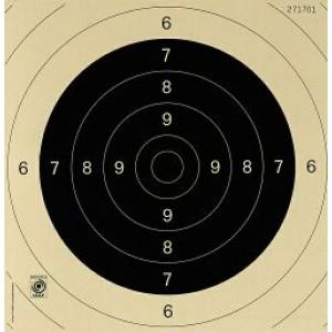 Pistolen Wettkampfscheibe SSV/ISSF, 25/50 m