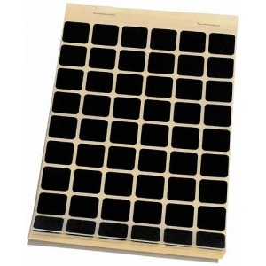 Block Schusslochkleber, schwarz, 15 x 15 mm