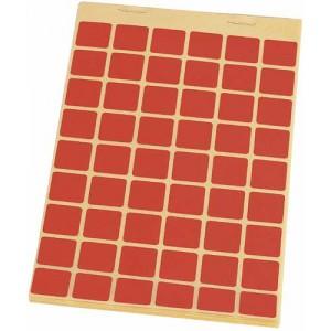 Block Schusslochkleber, rot (Apfelscheibe), 15 x 15 mm