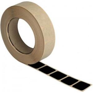 Rolle Schusslochkleber, schwarz, 15 x 15 mm