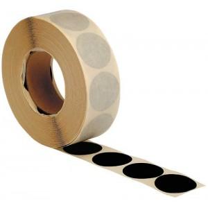 Rolle Schusslochkleber, schwarz beidseitig, Ø 25 mm