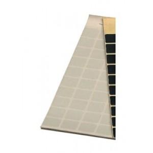 Block Schusslochkleber, transparent, 15 x 15 mm