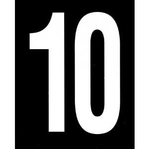 Scheibennummer 2-stellig, 1000 x 1000 mm
