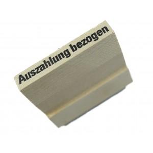 Stempel auf Kehlgriff mit verschiedenen Lagertexten