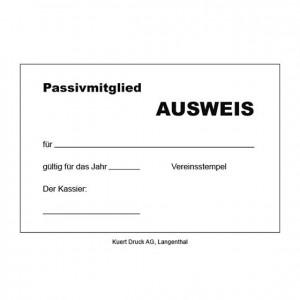 Ausweiskarten für Passivmitglieder