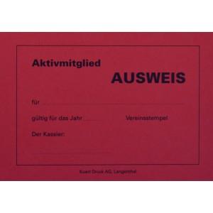 Ausweiskarten für Aktivmitglieder