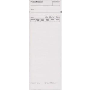 Standblattabschriften für das Feldschiessen, deutsch