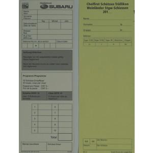 Standblattgarnituren, 76 x 210 mm, Sonderanfertigung