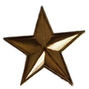 Bandaufsatz-Stern vergoldet