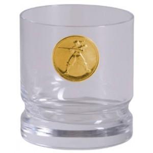 Schwerer Schützenbecher, Münze vergoldet
