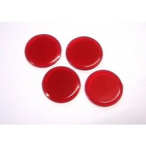 Abdeckplättchen rot, rund, Ø 19 mm, 1 mm dick