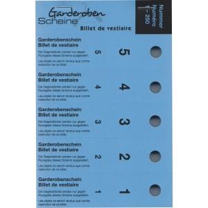 Serie Garderobescheine, 1-250