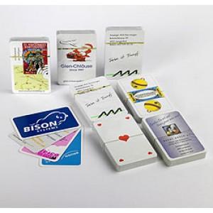 Jass-Reklamespielkarten Qualität A, Werbeaufdruck 1-farbig