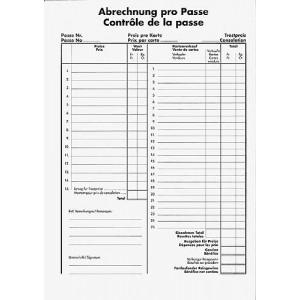 Passen-Abrechnungsblock, à 100 Blatt