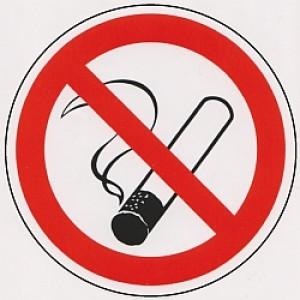 """Kunststoffkleber """"Rauchen verboten"""""""