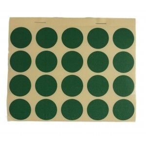 Bloc de bletz autocollants, vert-kaki, Ø 25 mm